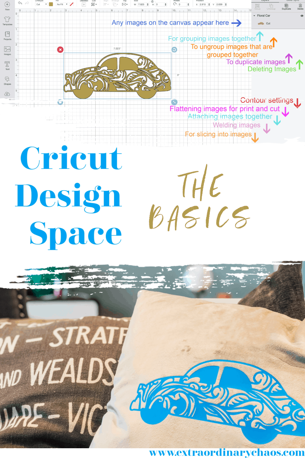 Cricut Design Space The Basics, How to use the Design Space Dashboard for Beginners