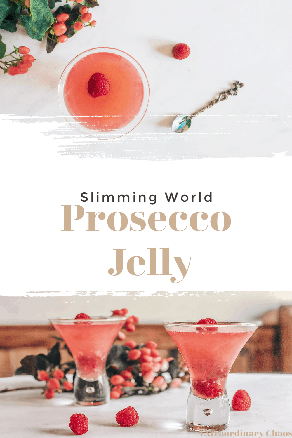 Slimming world Rasberry Prosecco Jelly