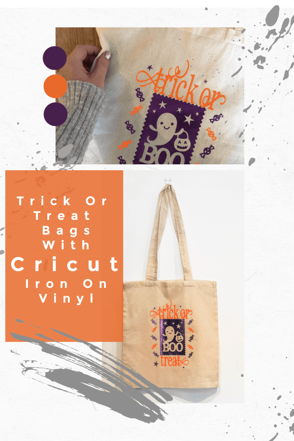 Easy Halloween Crafts Cricut Trick Or Treat Bags-2
