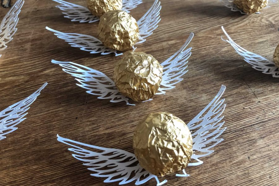 Golden snitch party chocolates