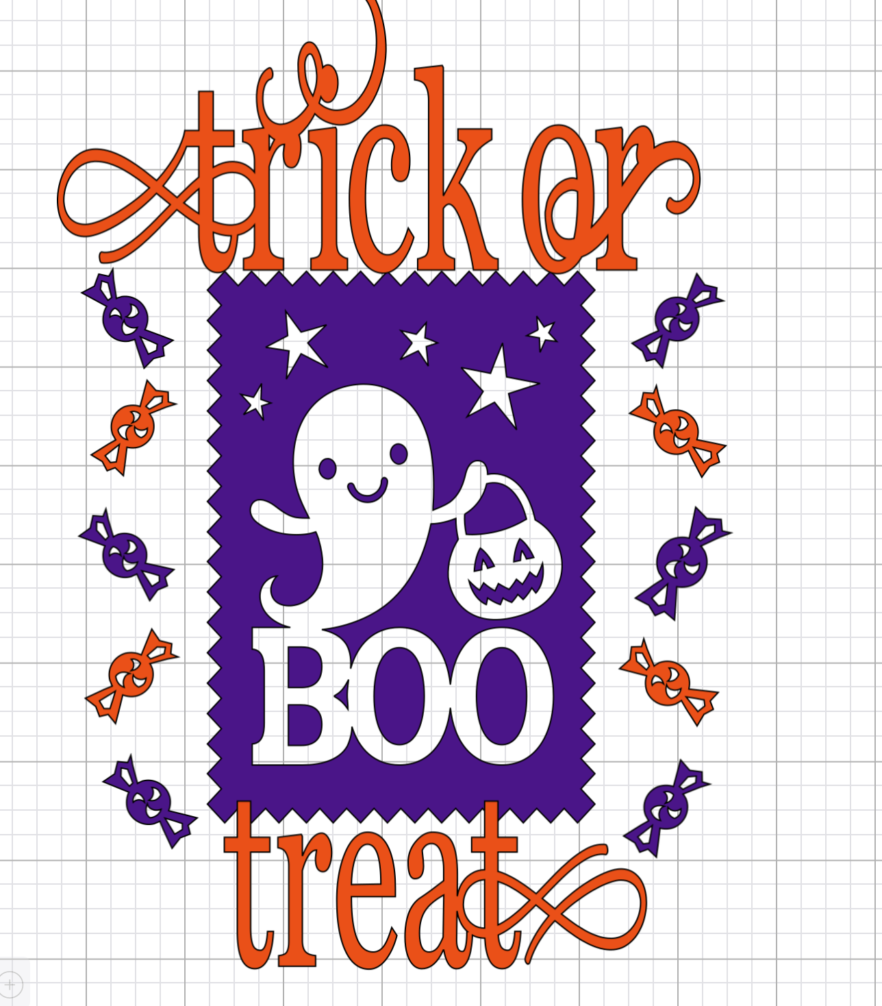 Halloween image for Trick or treat bag