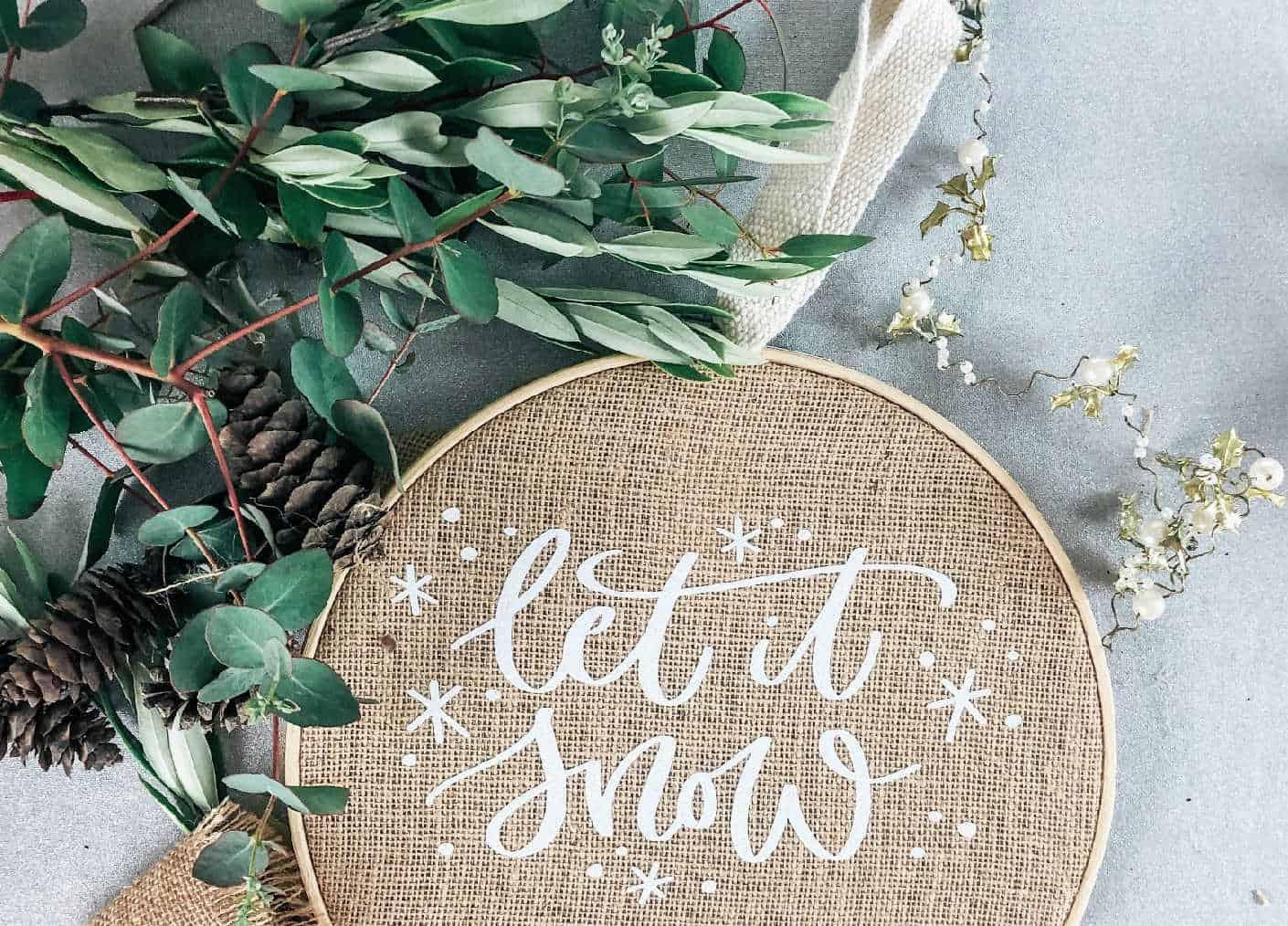 adding foliage to a Christmas Wreath-2