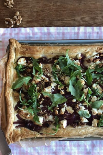 onion and cheese tart