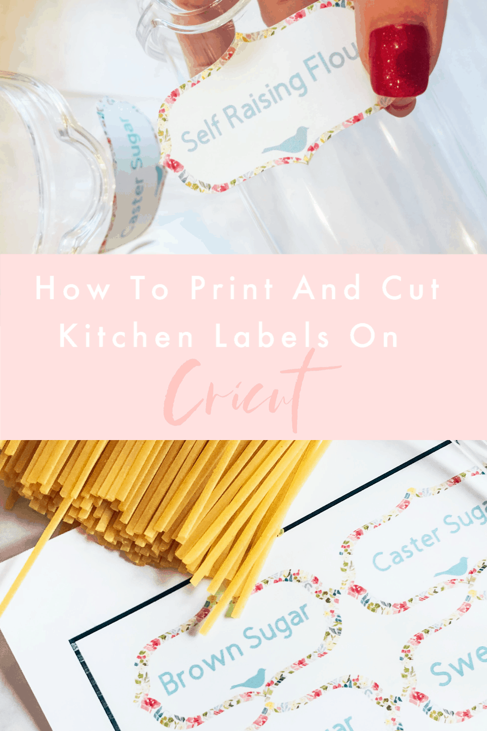 Kitchen Labels, How To Print And Cut On Cricut