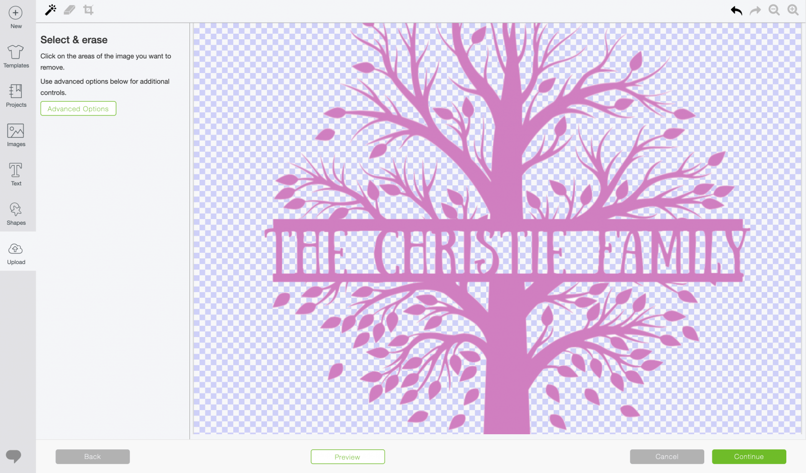 imported image to cut on Cricut