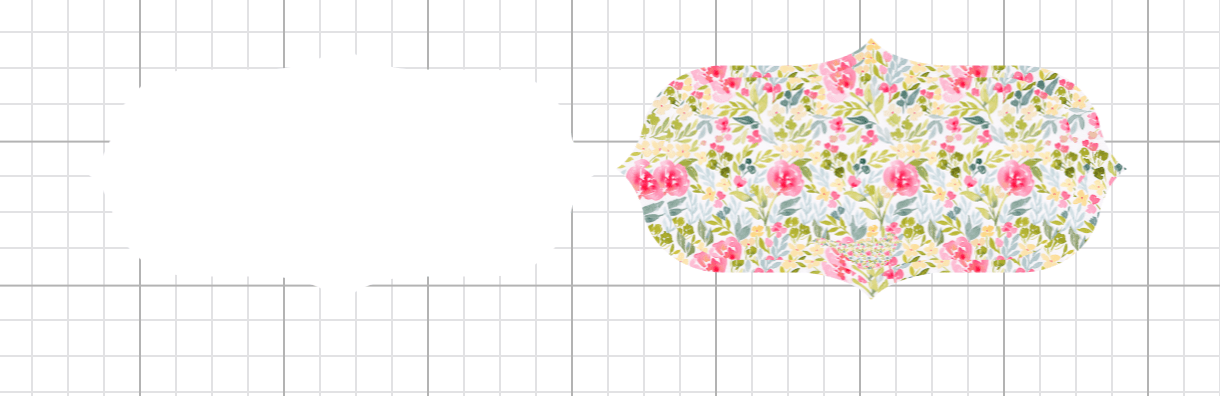 making a floral background for a print and cut label