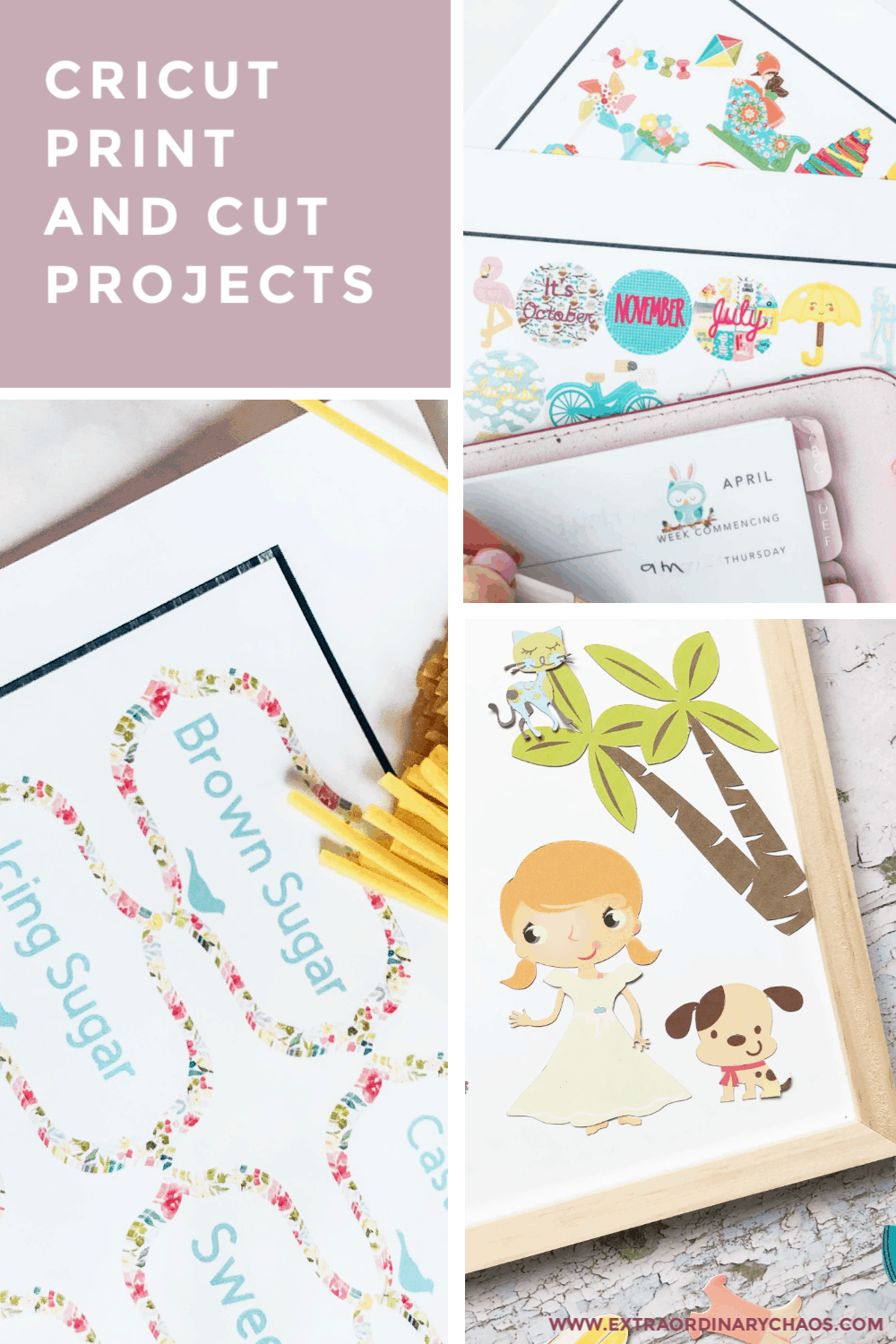 Cricut Print and Cut Projects