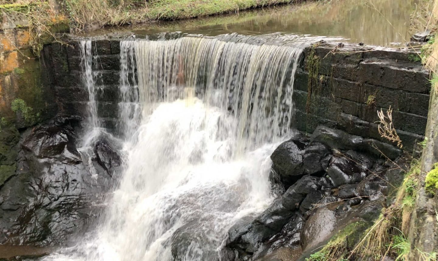 Family walk and waterfall in Lancashire