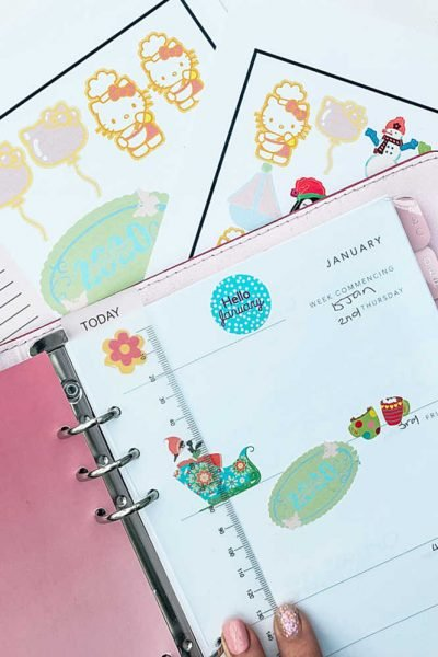How to make Print and cut stickers