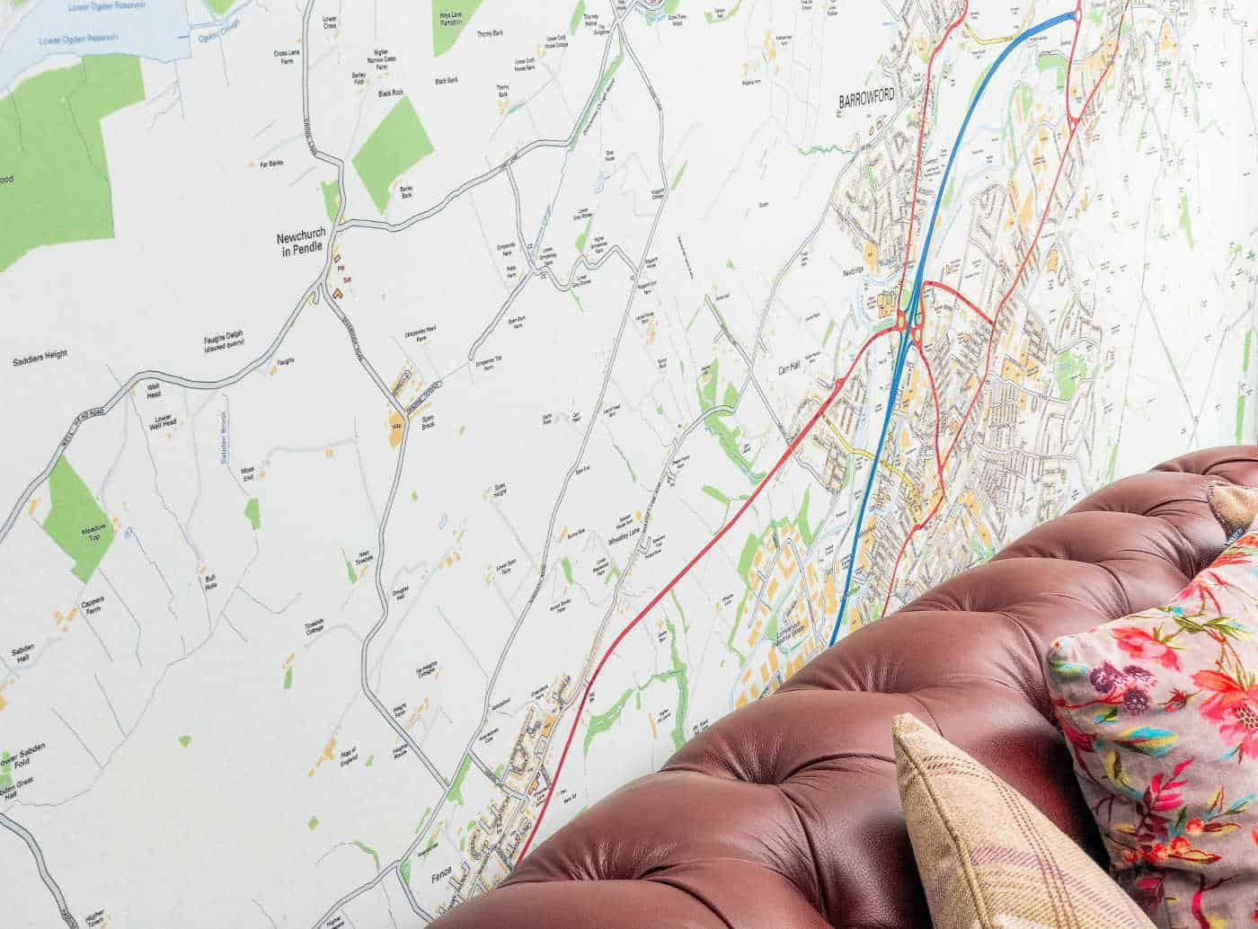 Map murals for the home