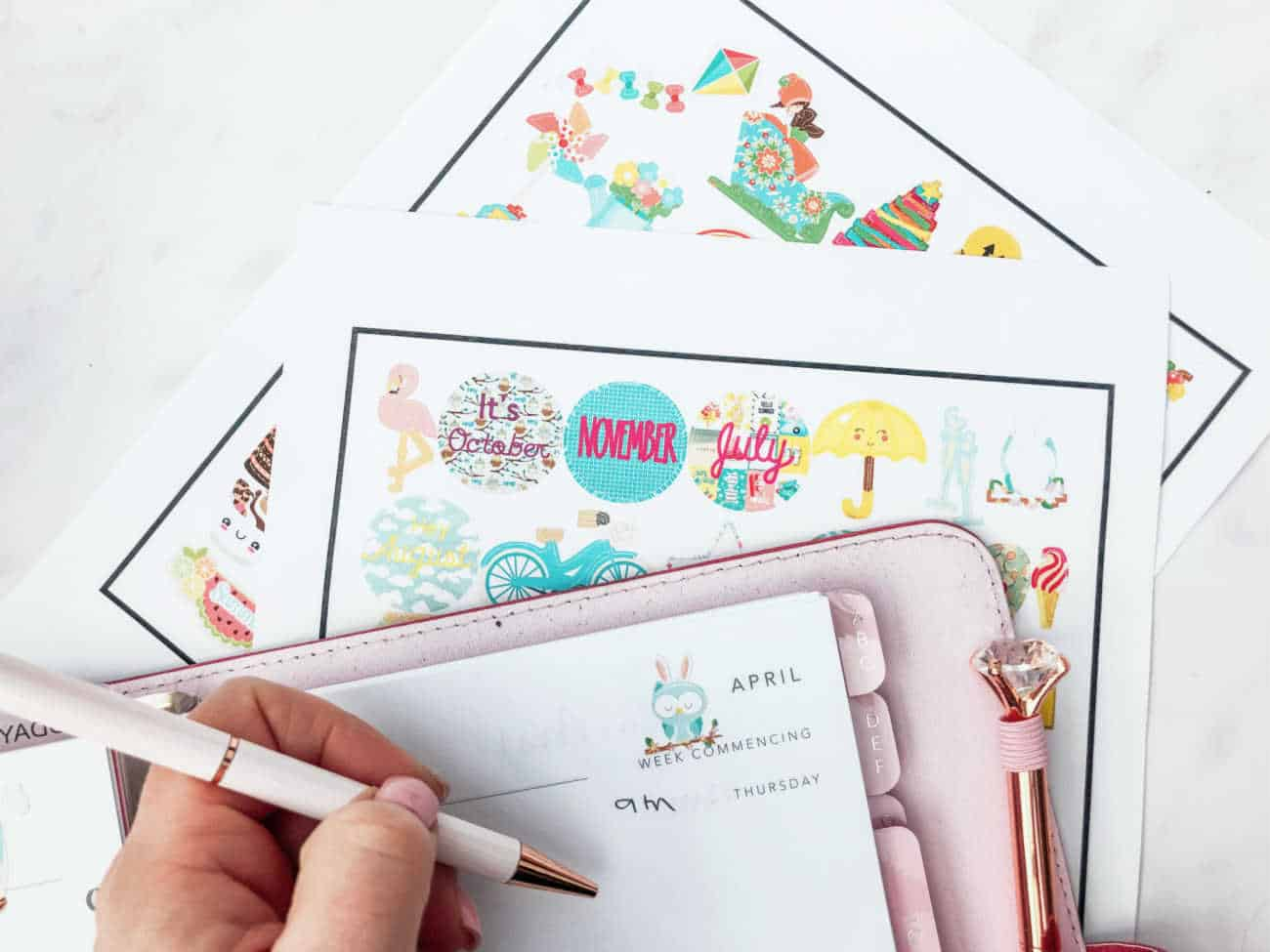 Planner stickers Cricut Print and Cut-2
