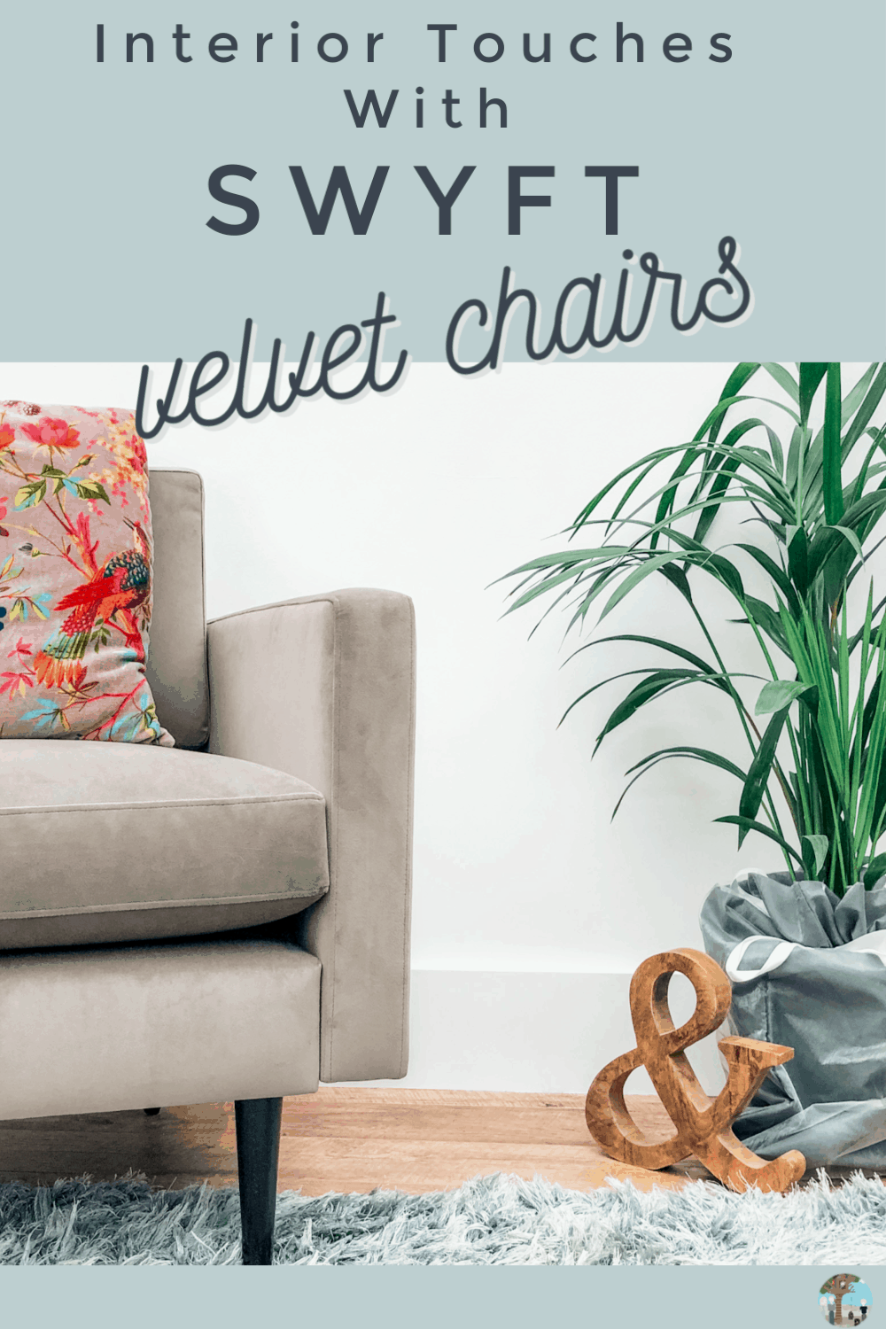 Adding A Grey Velvet Armchair To Style An Interior , and review of the SWYFT flat pack lockable chair system