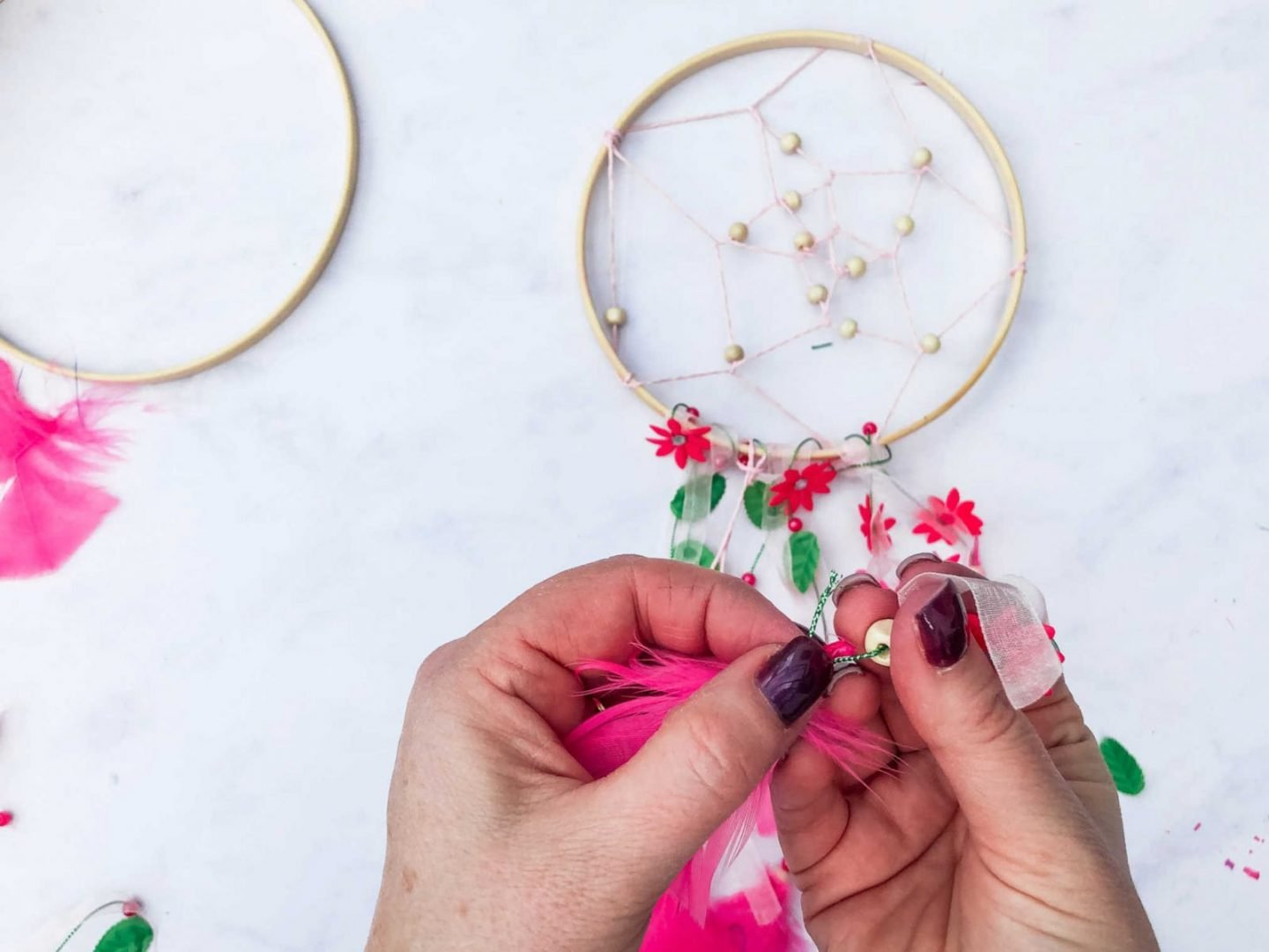 Adding ribbon to embroidery hoop