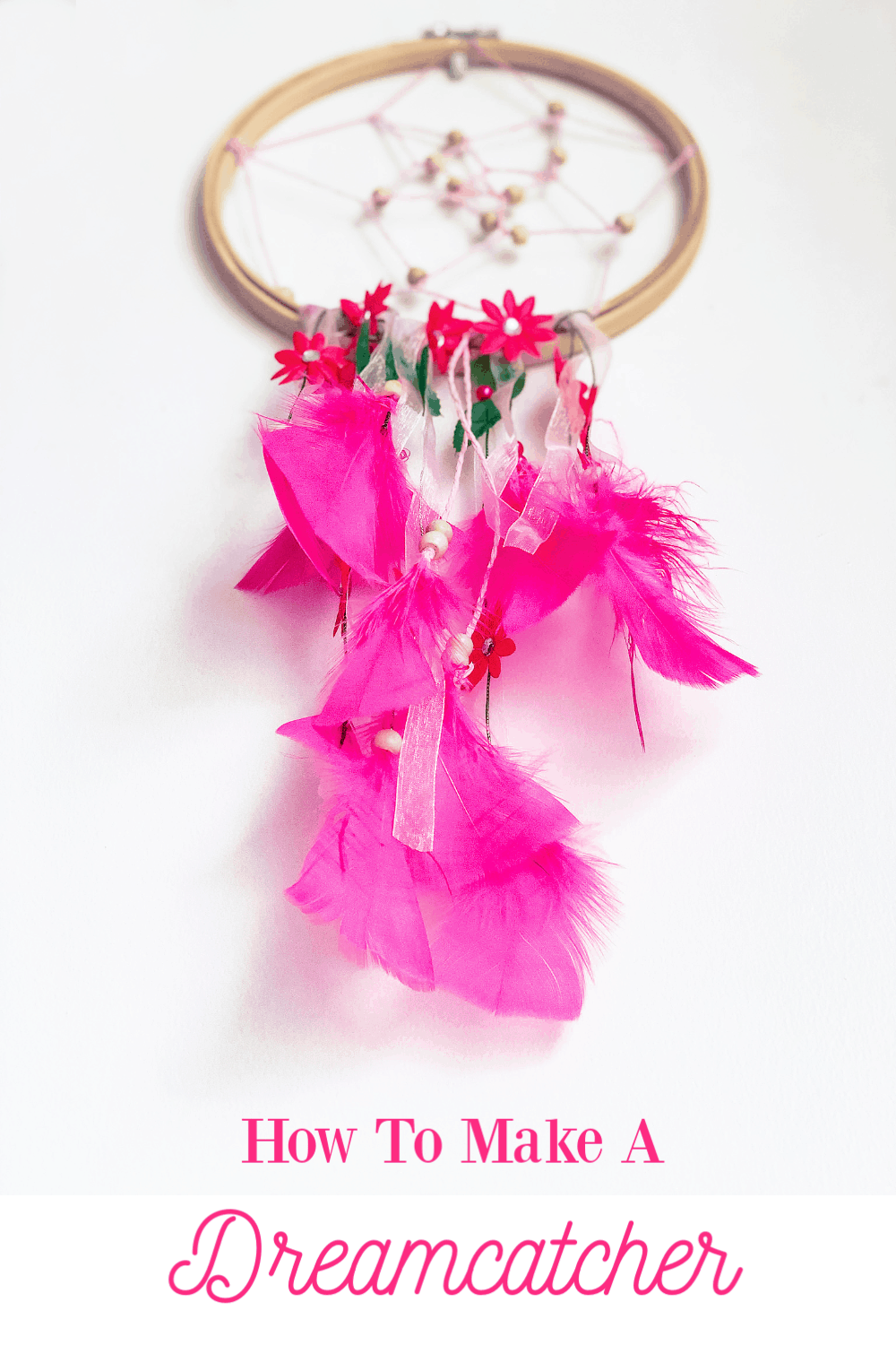 How to make a dreamcatcher with embroidery hoops