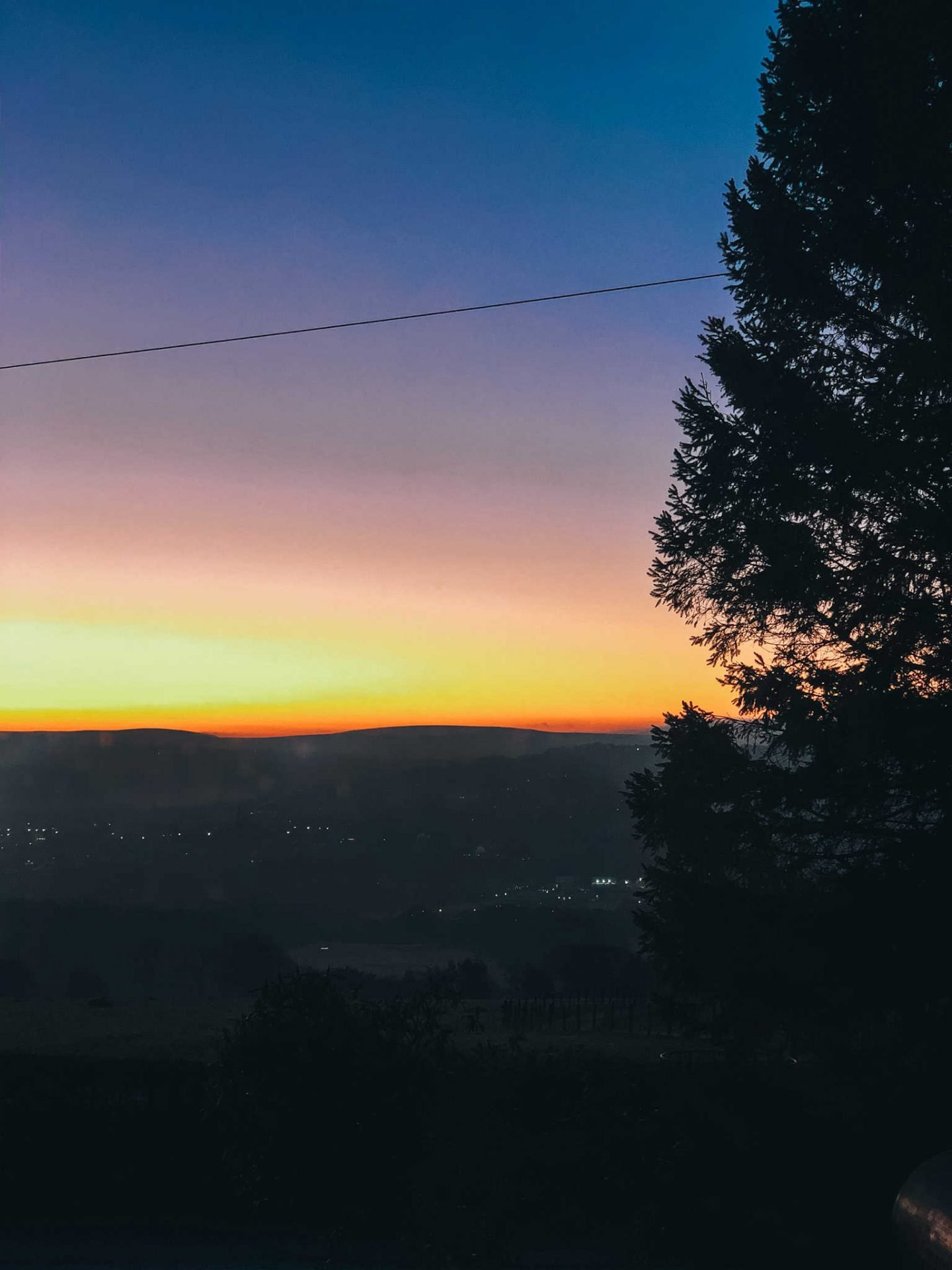Sunset in Pendle in Feb