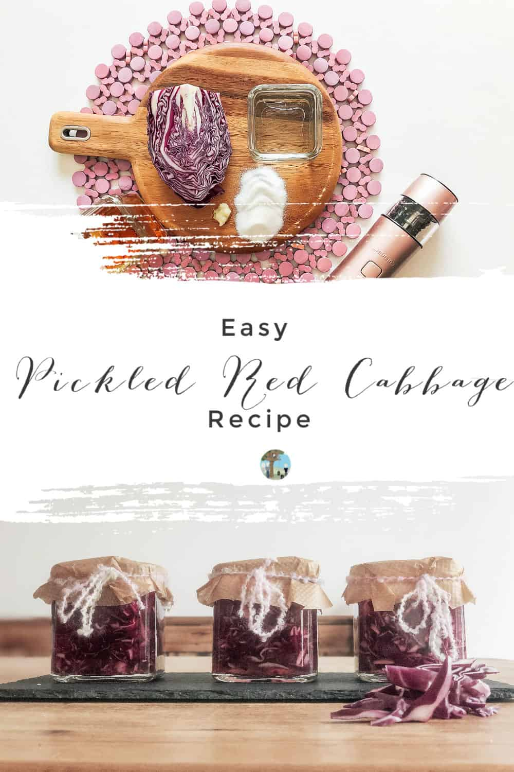 Easy pickled red cabbage recipe, perfect for salads, pies and fajitas
