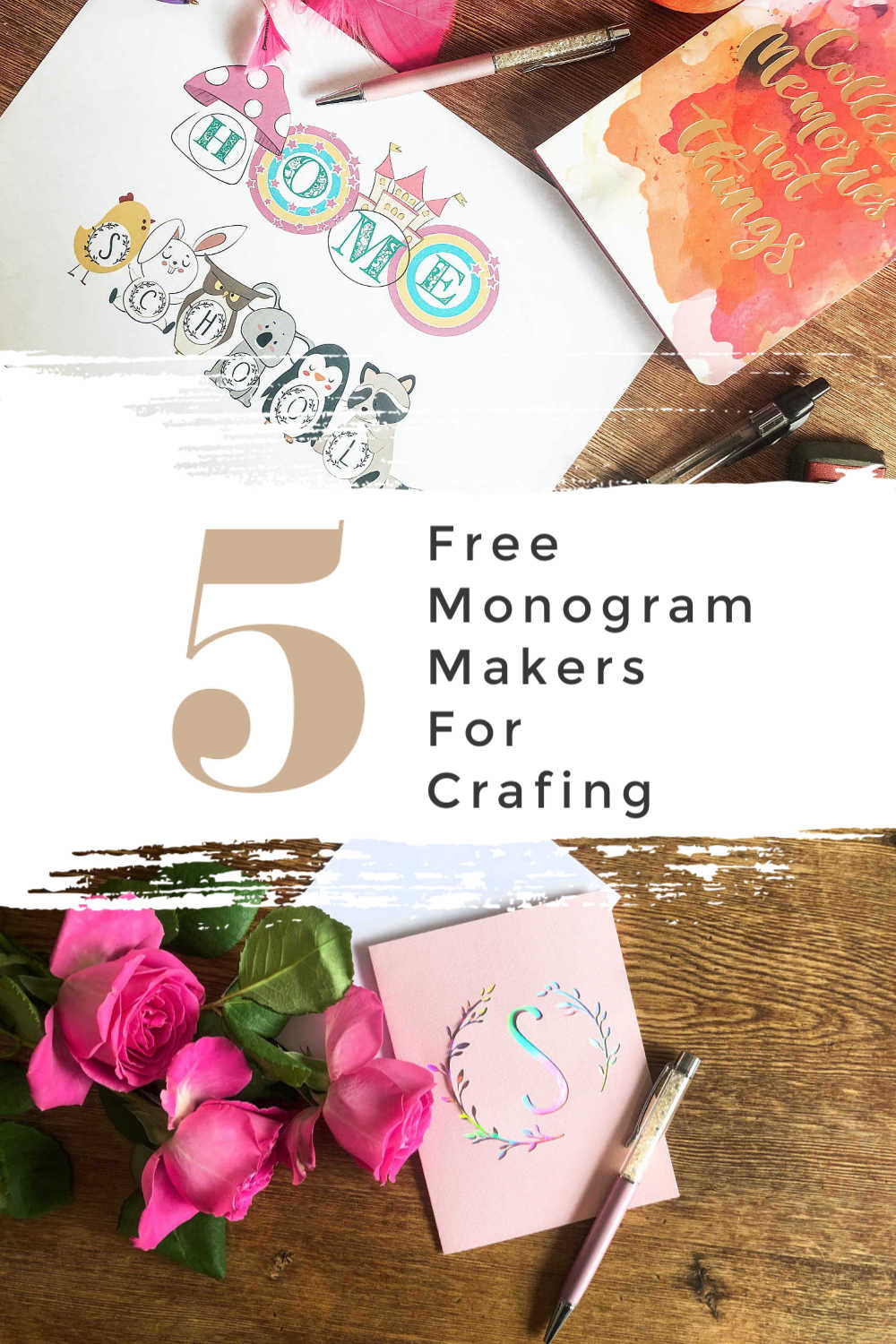 5 free monogram makers for crafting