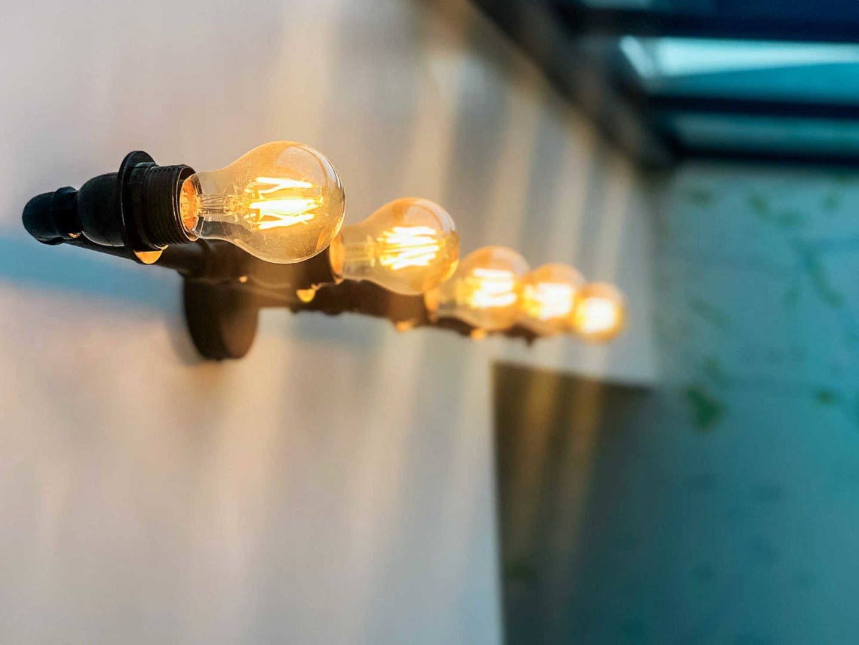 Contemporary lighting for garden rooms