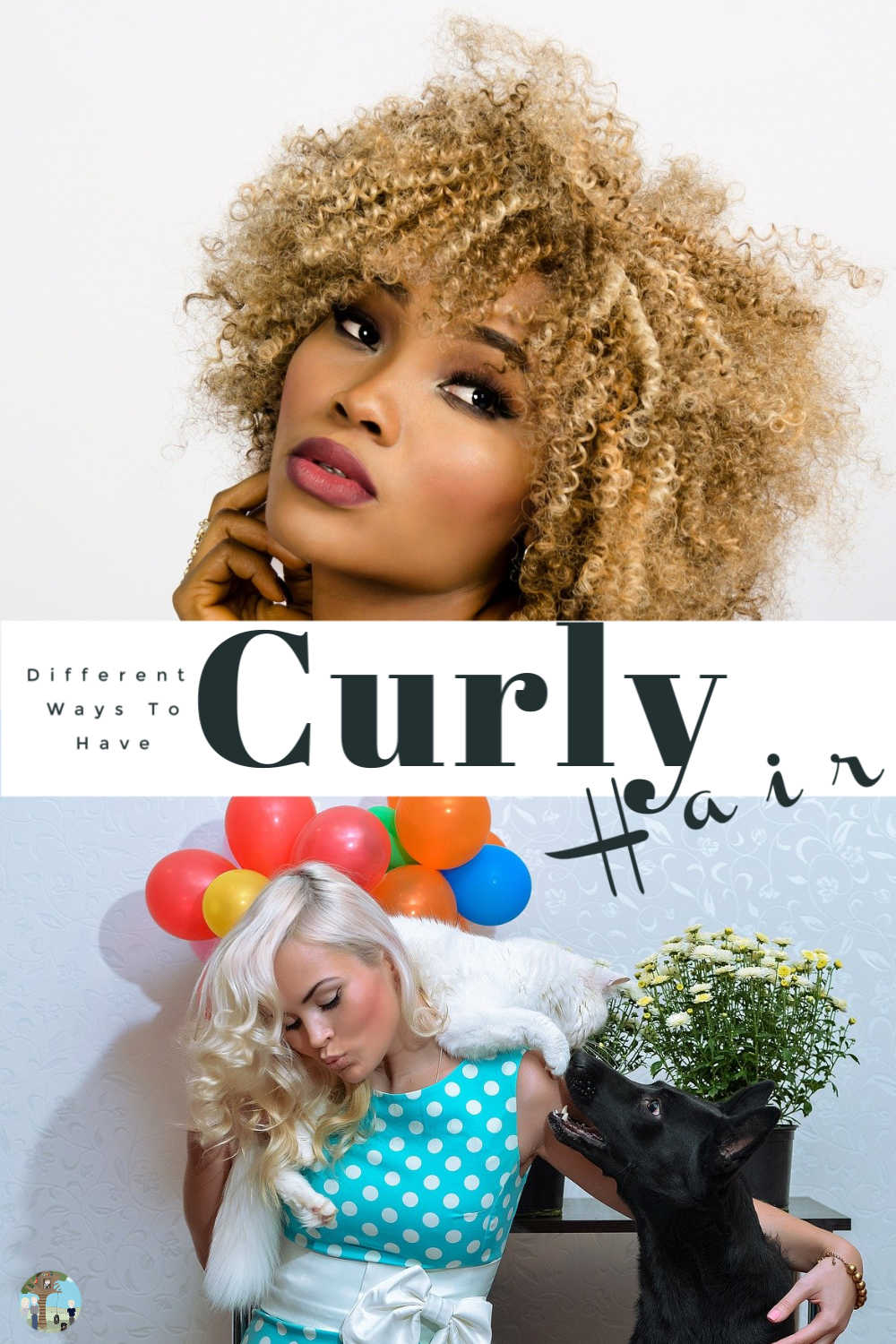 Different ways to curl your hair or have curly hair