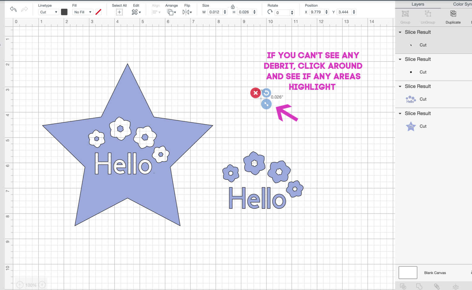 why cant I slice on Cricut Design Space-2