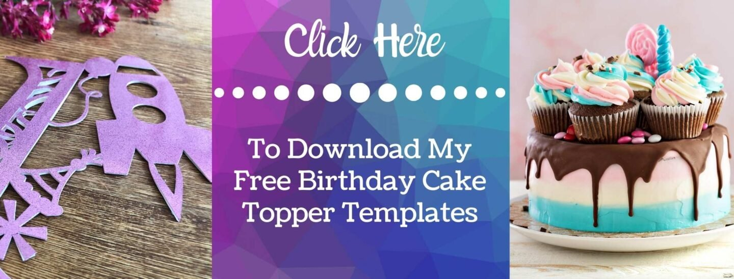 Cake Topper PNG Files