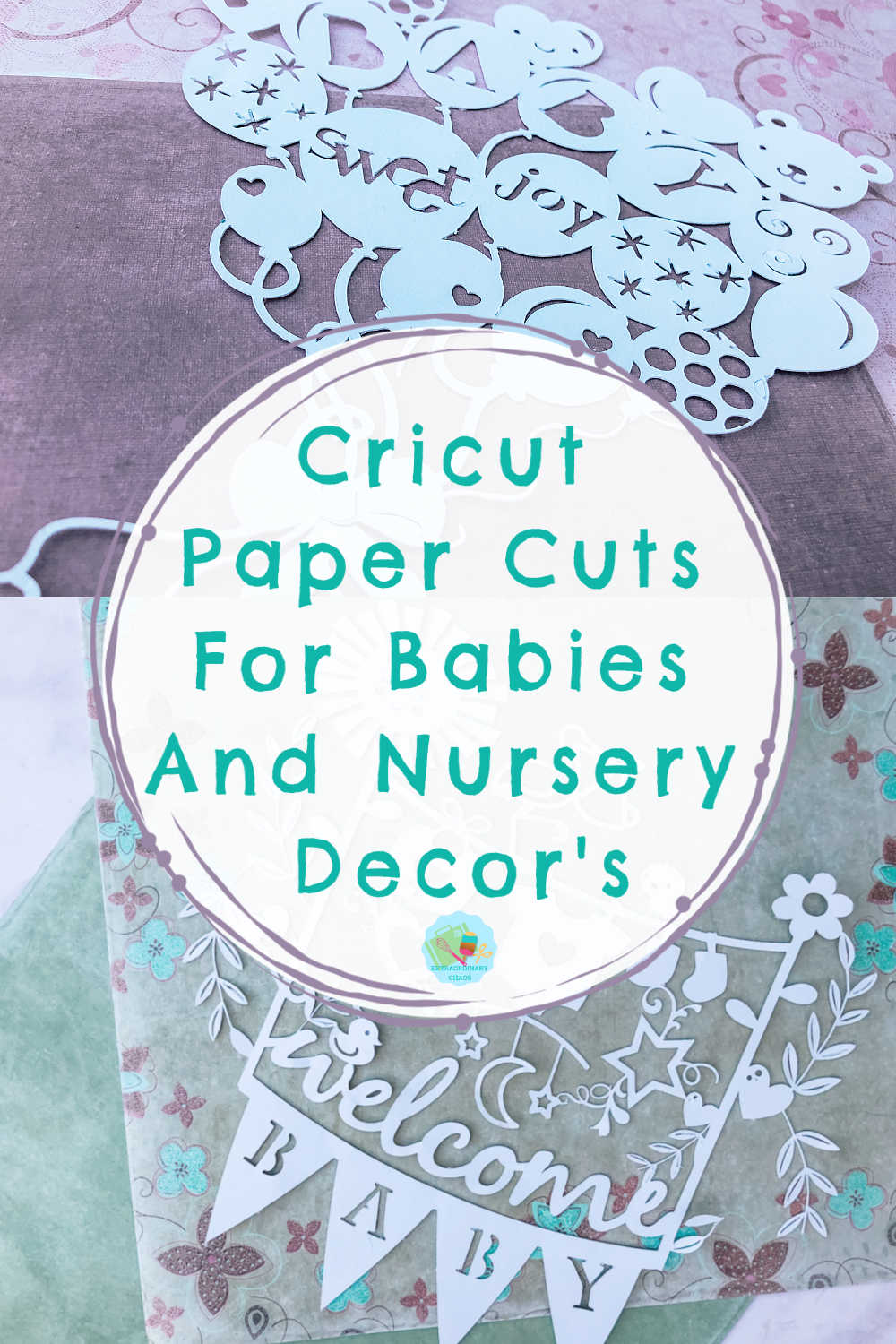 Cricut paper cuts for new baby gifts and nurseries to sell.