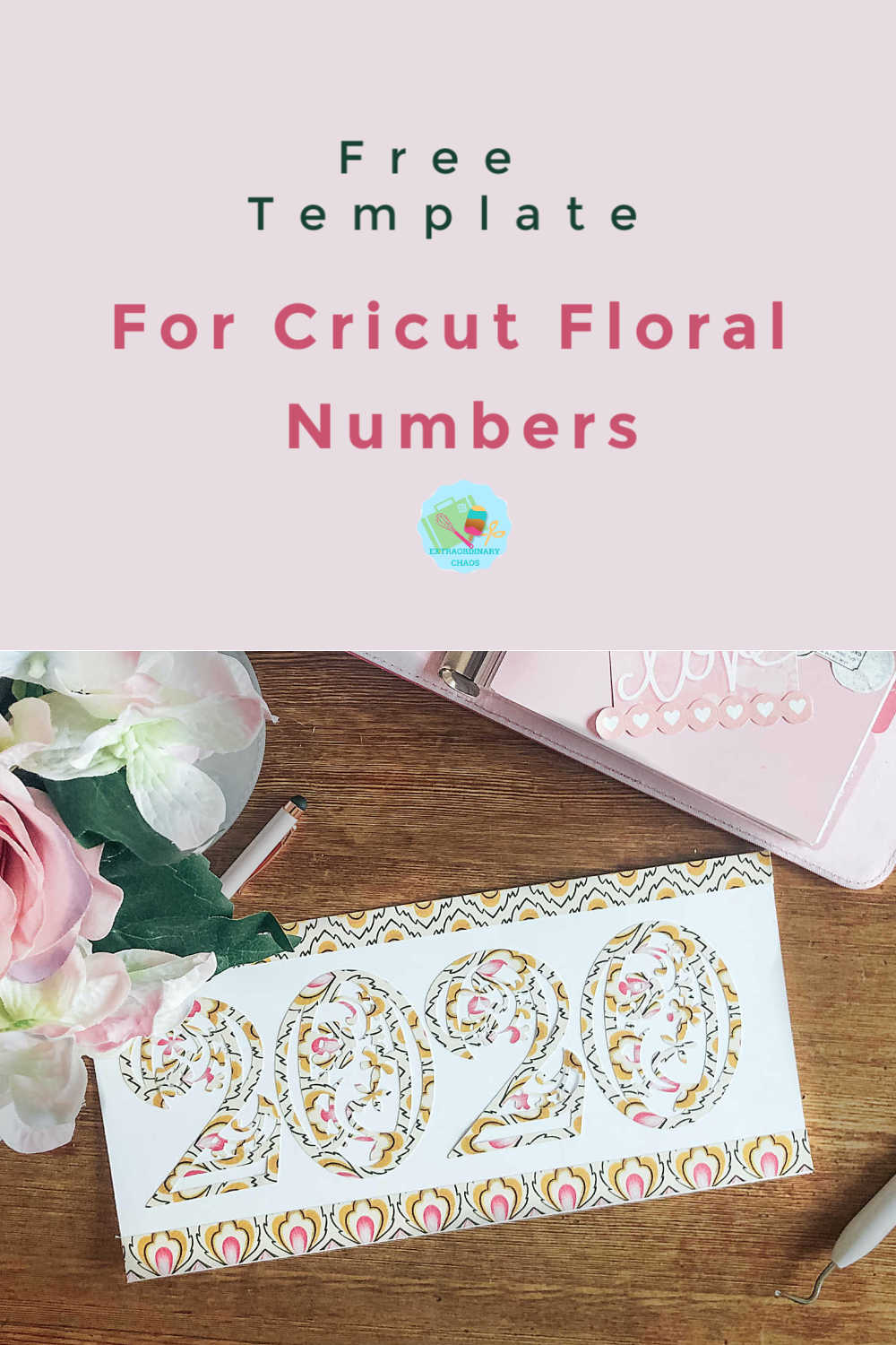Free Cricut Floral Paper Cut Numbers perfect for paper cutting, cake toppers, wedding stationery and table numbers.