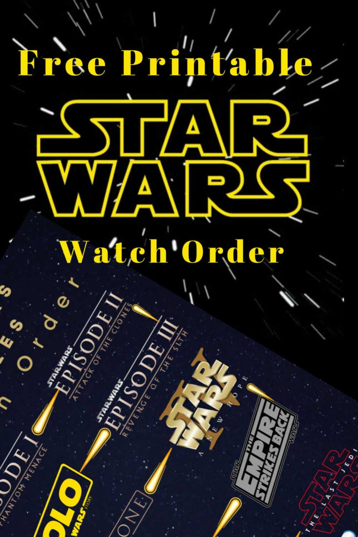 Free Printable Stars Wars Watch Order