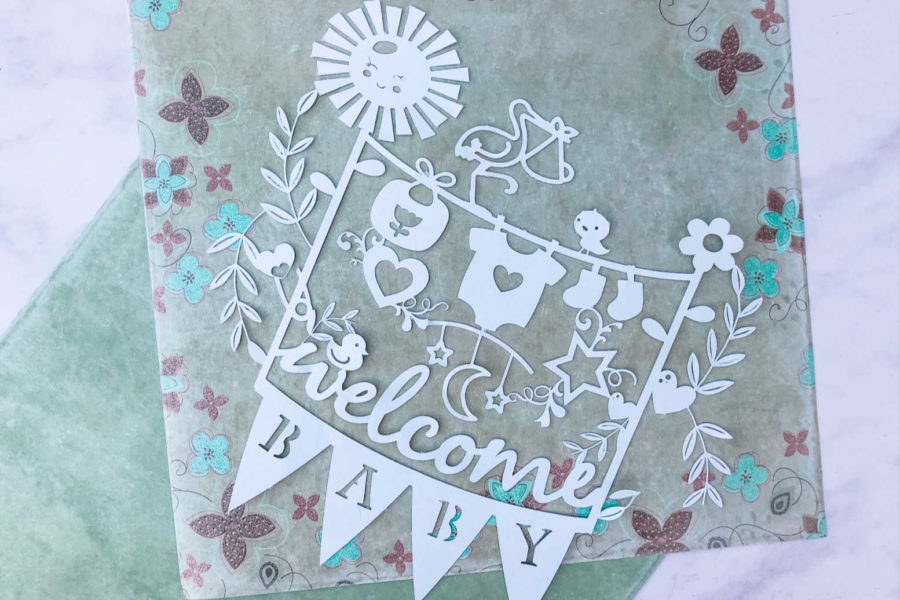 Free baby paper cut template