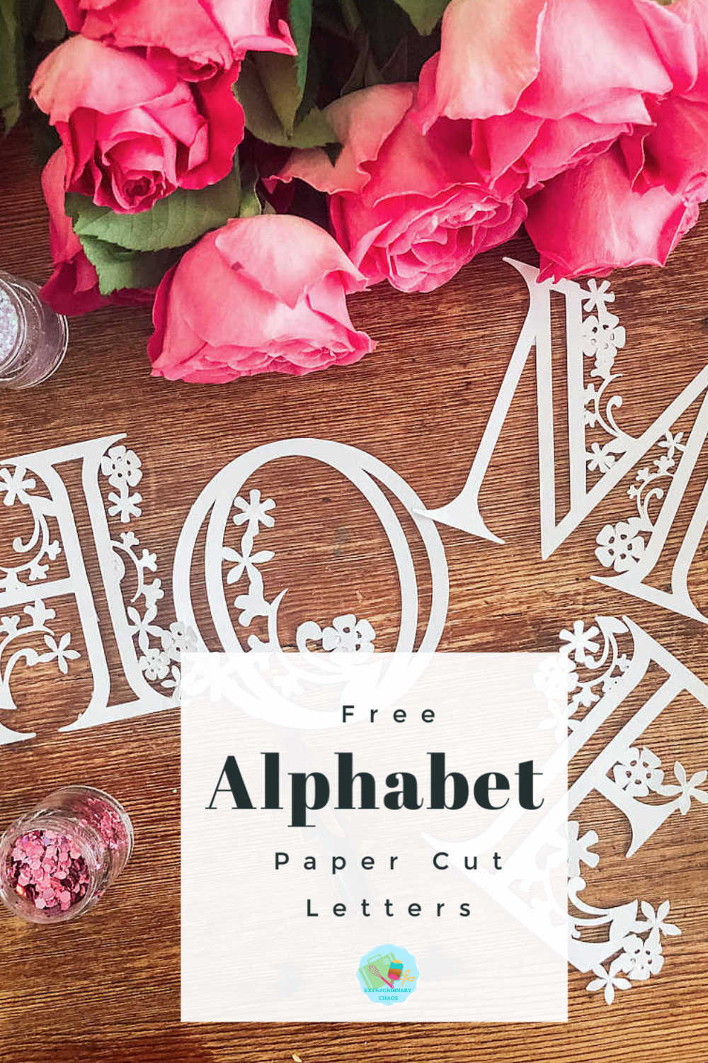 Free Cricut Floral Alphabet Templates For Paper And Vinyl to cut on the cricut maker, explore and Cricut Joy. Great for cutting out gifts or paper cuts to sell