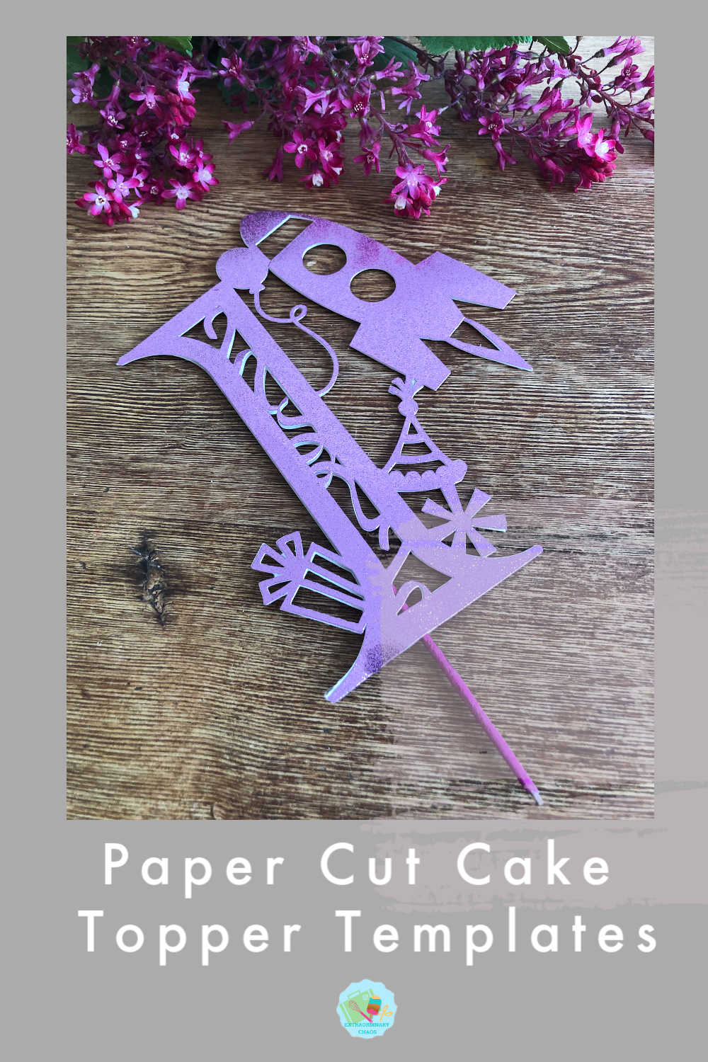 How to make paper cut cake toppers and free number templates