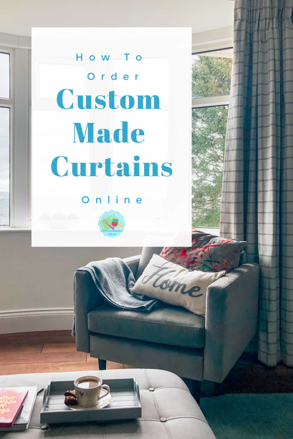 How to order custom made curtains online, including choosing samples, measuring and ordering guide