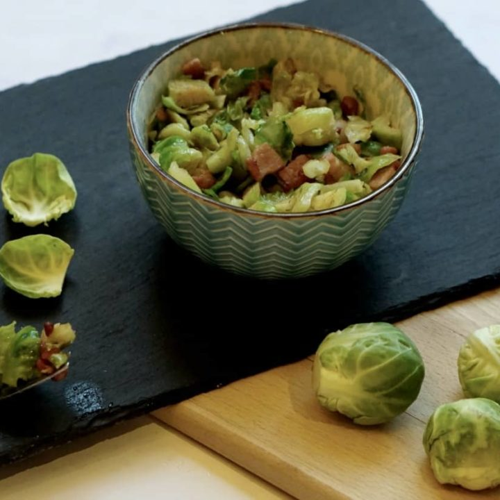 Shredded Brussel Sprouts And Pancetta