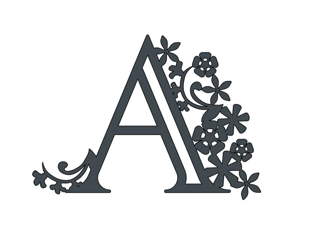 Alphabet Paper cut letter A