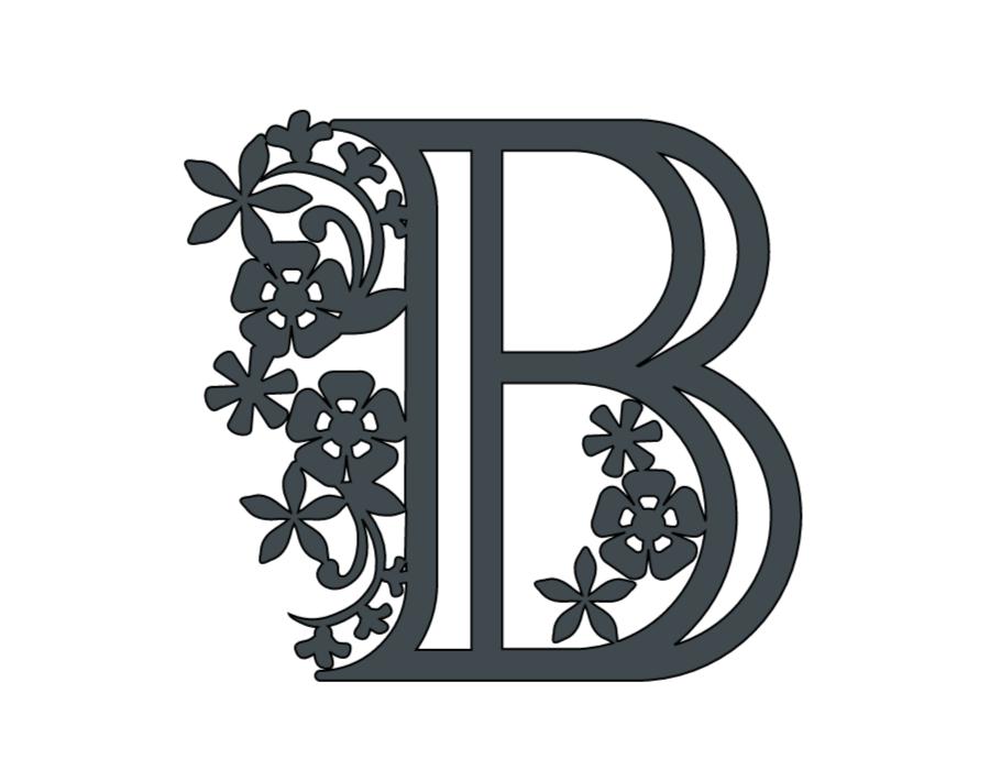 Alphabet Paper cut letter B