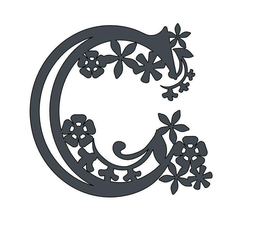 Alphabet Paper cut letter C