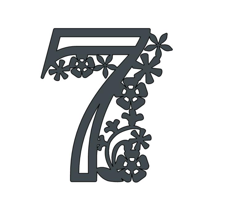 Cricut Paper Cut Number 7