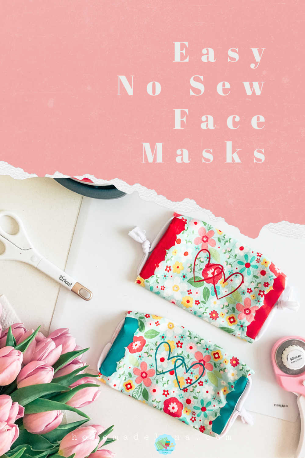 Easy children's face books, no need to sew just use Cricut Iron On Vinyl to seal the edges and jersey ear wraps for comfort #kidsmasks #facemasksforchildren #prettyfacemasks