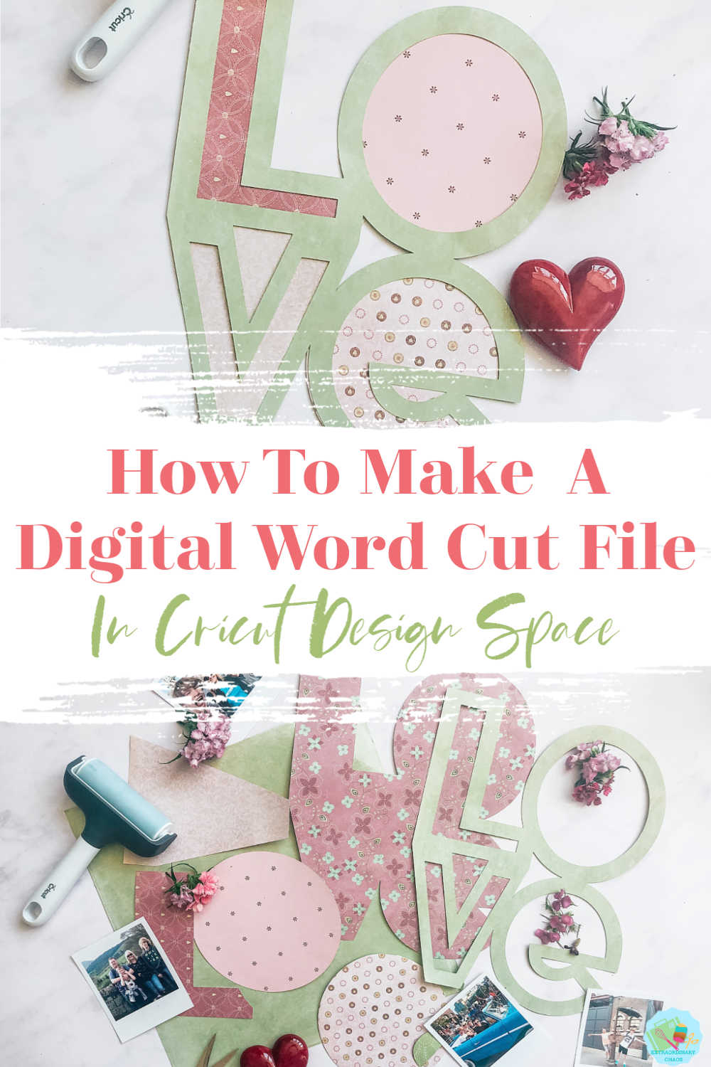 How to make a digital word Layout cut file in Cricut Design Space