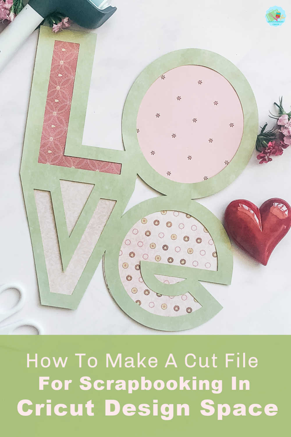 How to make a digital word template cut file for scrapbooking with Cricut