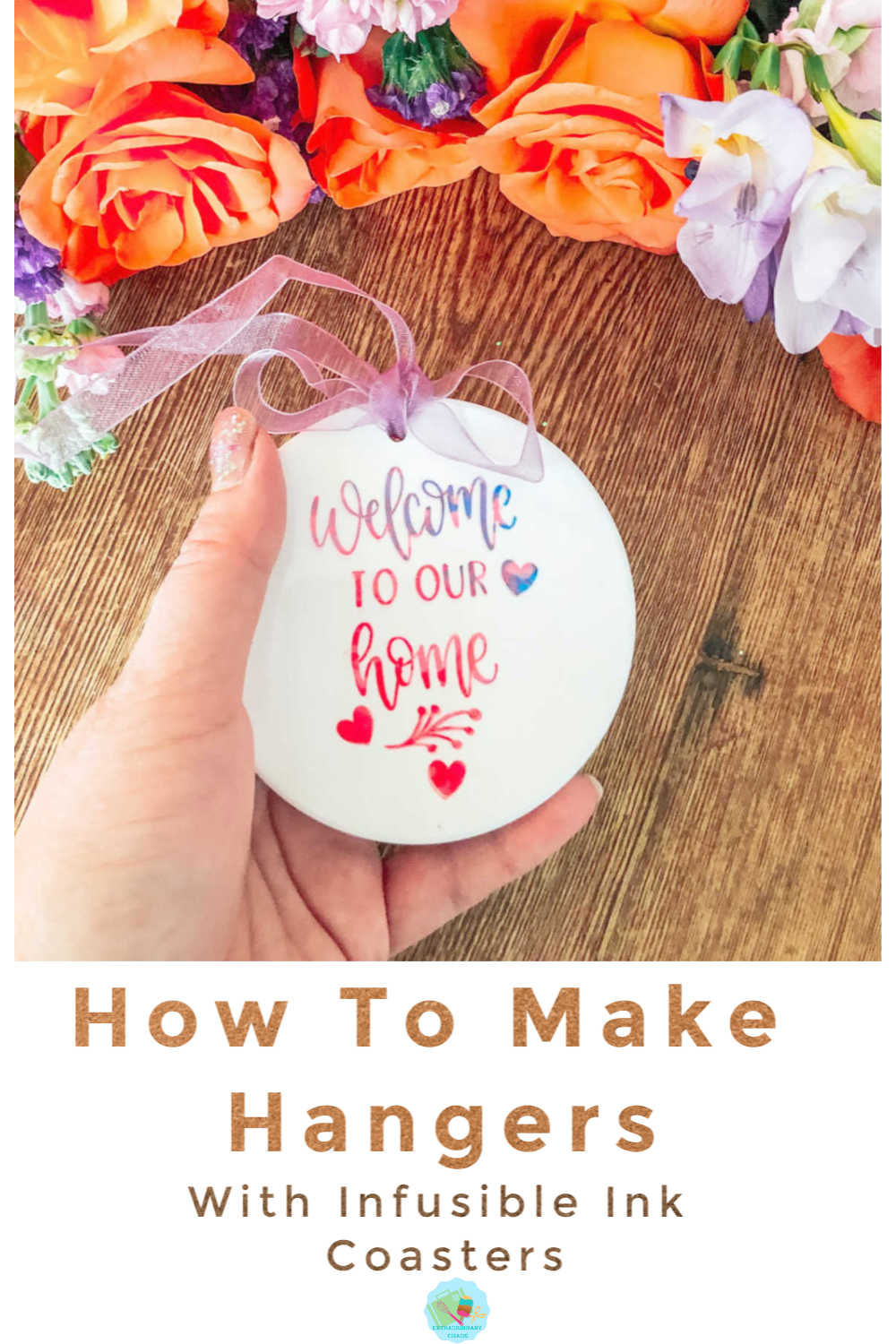 How to make gift hangers to sell with Cricut Infusible Ink Coasters