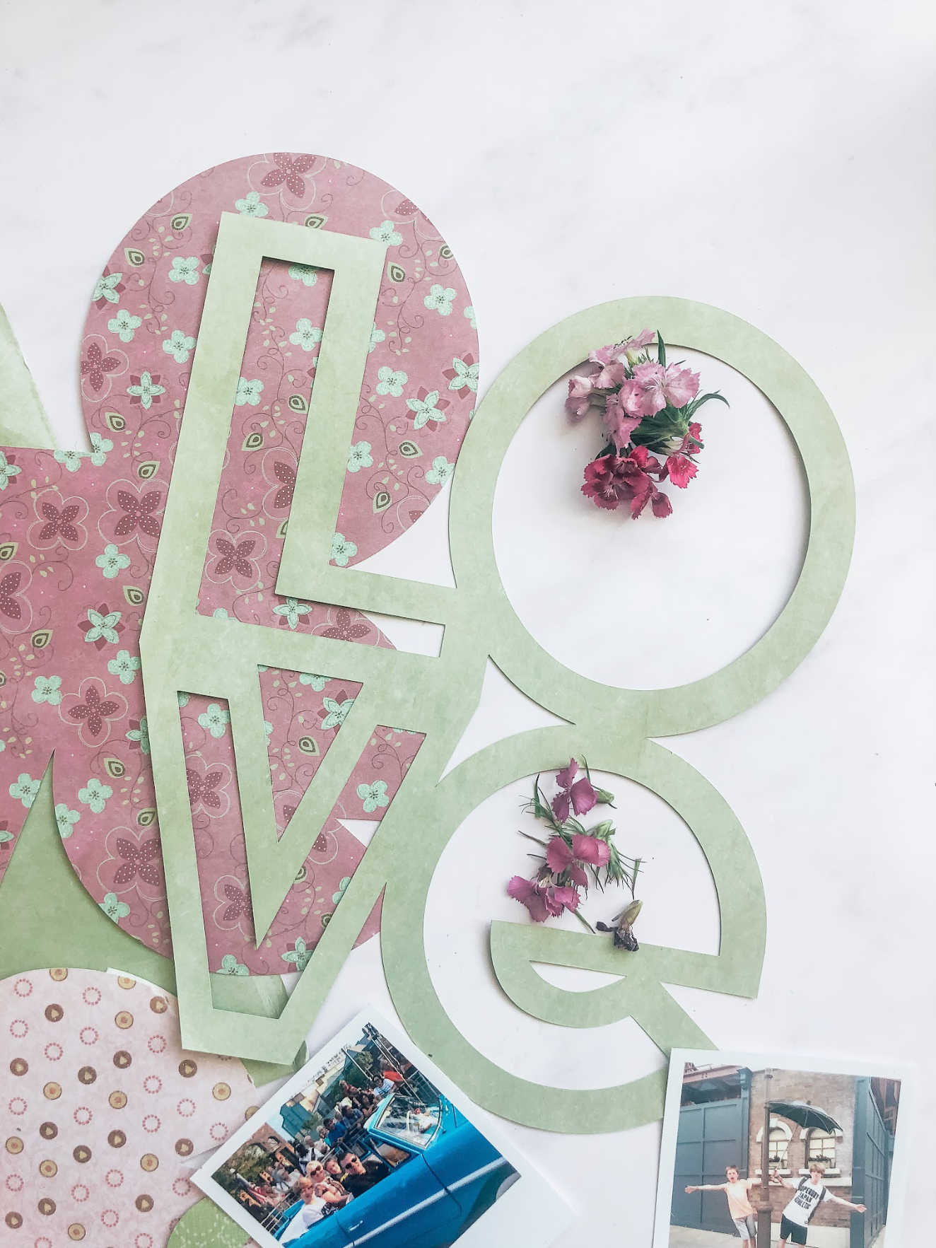 Love Scrapbook layout ideas