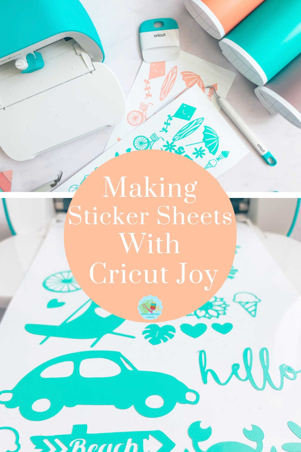 How To Make Cricut Vinyl Stickers, to sell for crafts and  parties or used for scrapbooking and school work