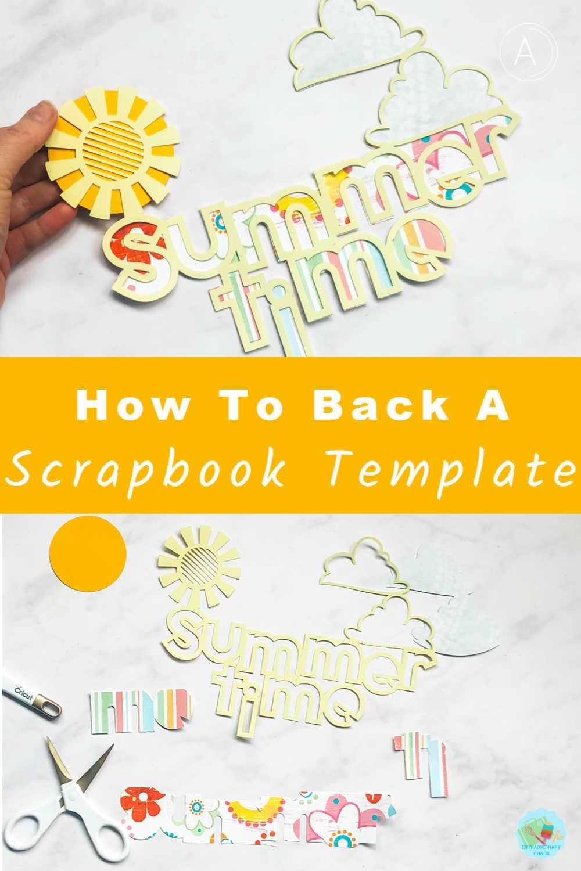 How to back a scrapbook template in Cricut Design Space