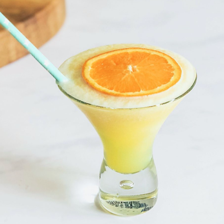 Frozen Gin And Orange Slush Cocktail