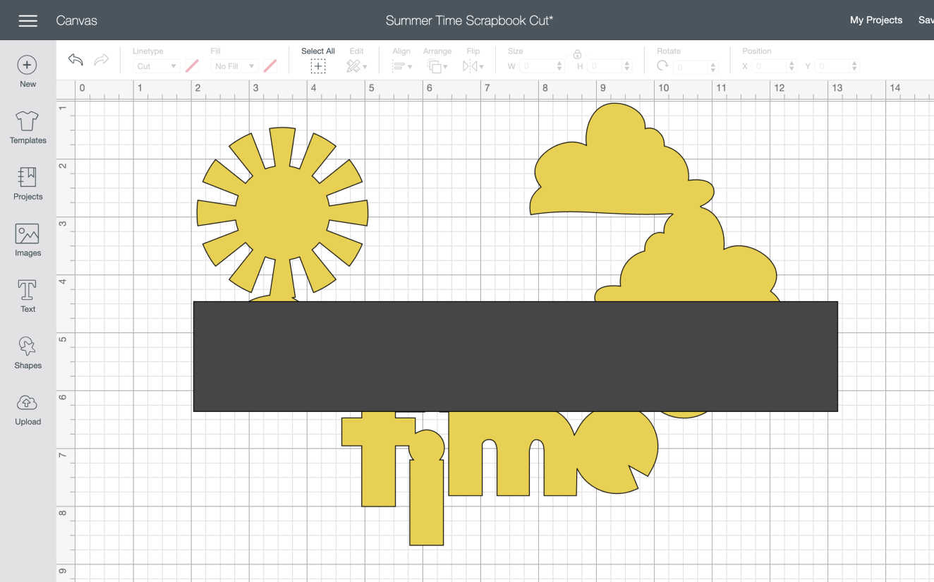 To back your cut file cover an area with a shape and slice to cut out the contoured shape for your digital scrapbook file