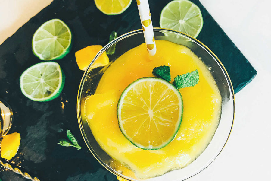 boozy Vodka and mango slush recipe