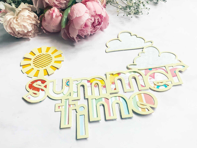 scrapbooking layout summer ideas