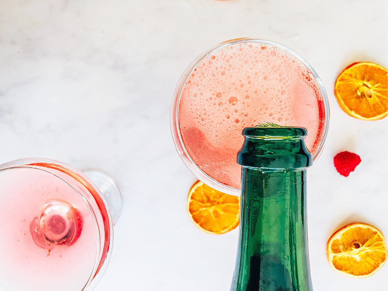 Add Prosecco to the gin and raspberry mix