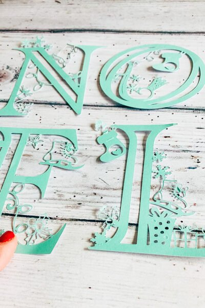 Christmas letters for crafting with Cricut
